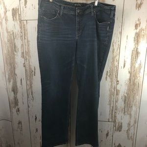 Silver Jeans, Aiko Mid Straight.  Size 20L32.  G93